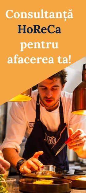 reclama servicii de consultanta Horeca pentru afacerea ta de restaurant hotel cafenea
