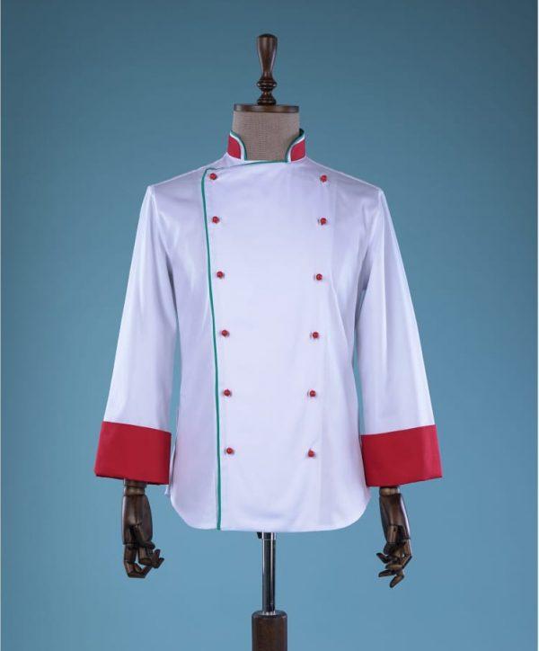 tunica Bucatar alb roșu
