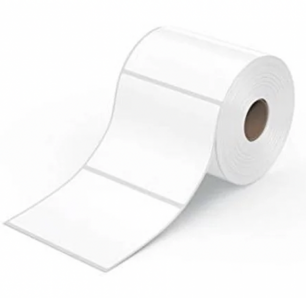 rola de etichete albe adezive